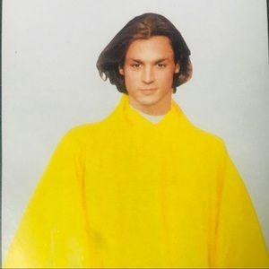 BOGO! TWO unisex yellow vinyl hoodie ponchos NIP